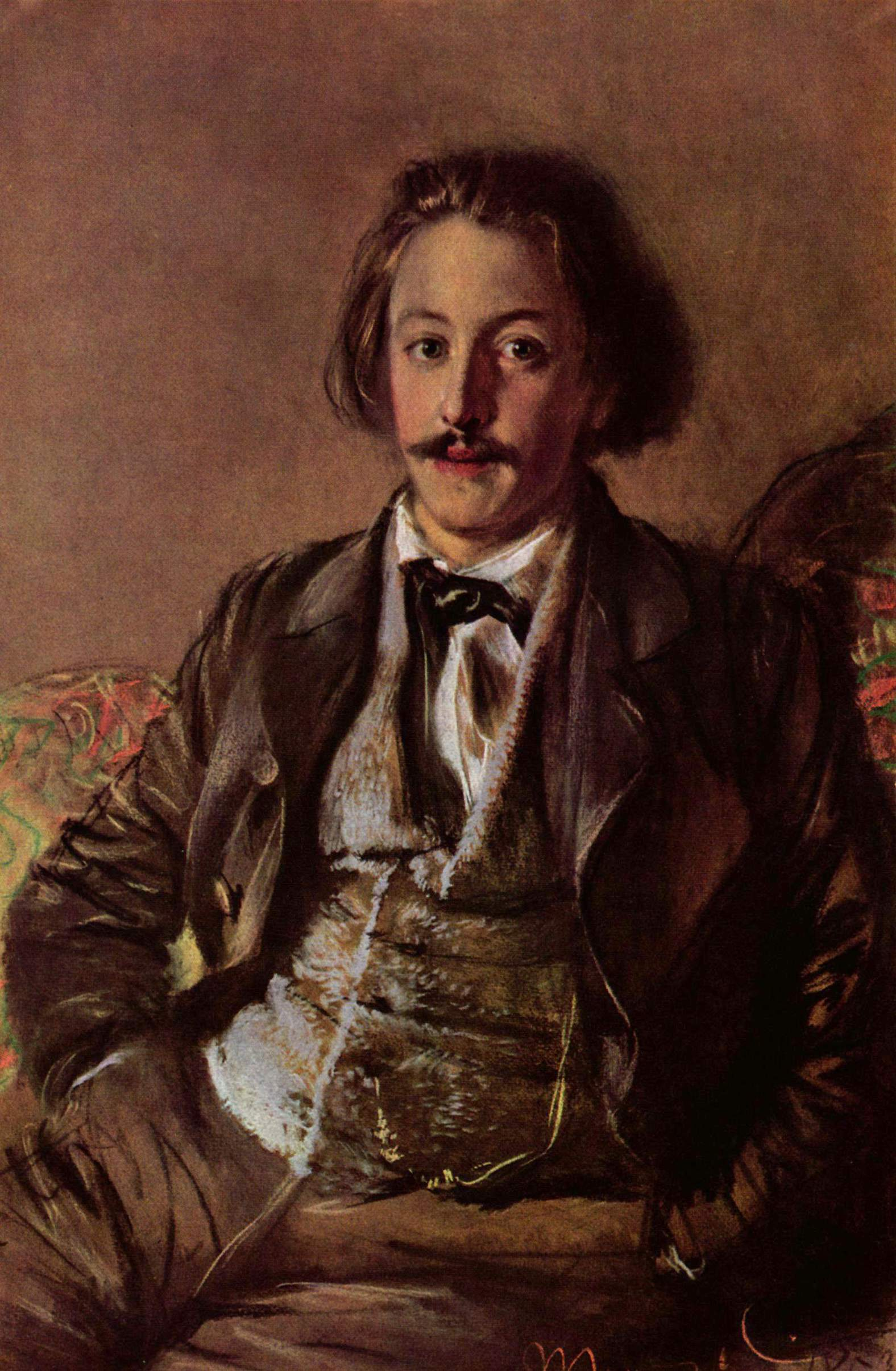 Portrait of Paul Heyse, by [[Adolph von Menzel]]