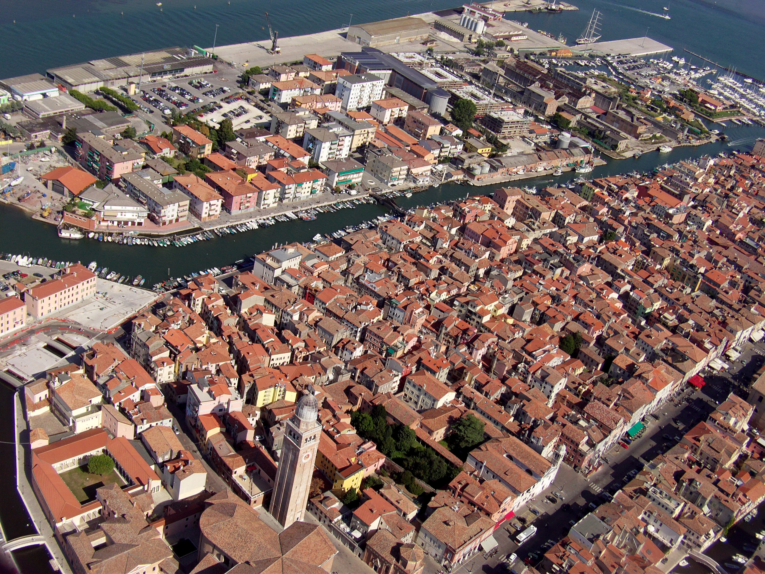 Chioggia Italy  city photos gallery : Airfoto Chioggia Italy Wikimedia Commons