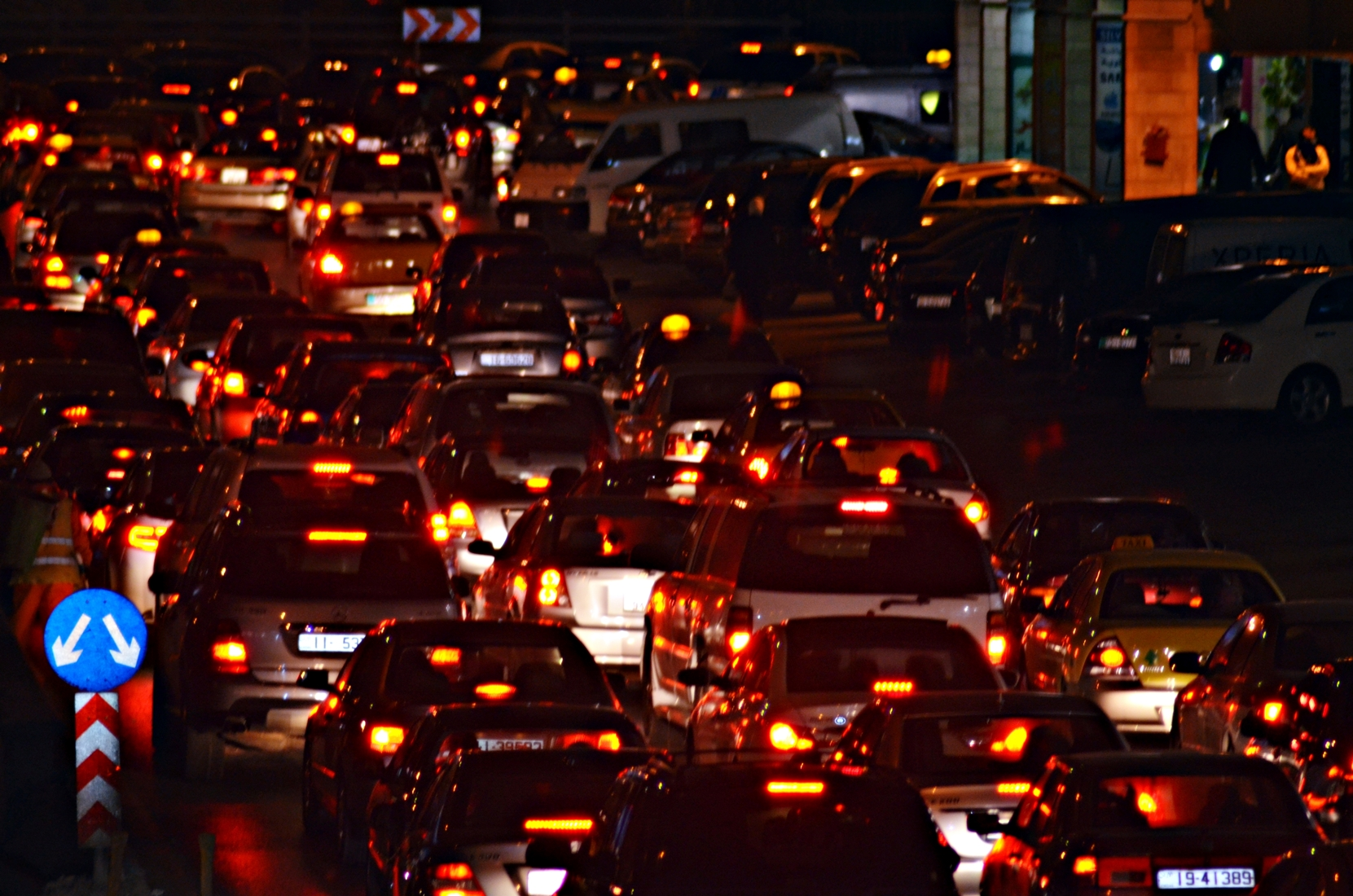 traffic at night by - photo #3