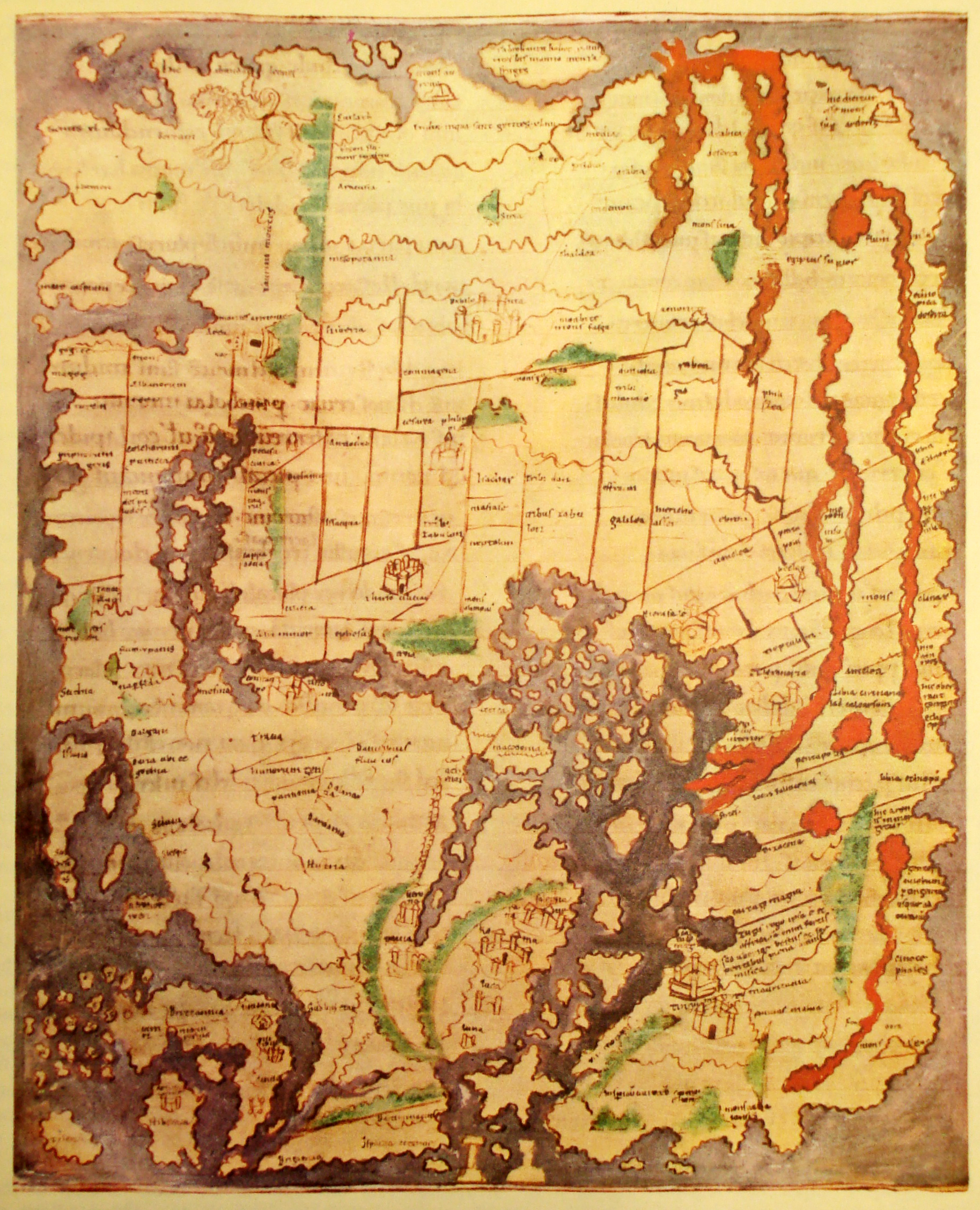 Cartography an overview timeline preceden anglo saxon cotton world map gumiabroncs Gallery