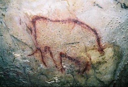 Parietal art. Mammoth, cave in Arcy-sur-Cure