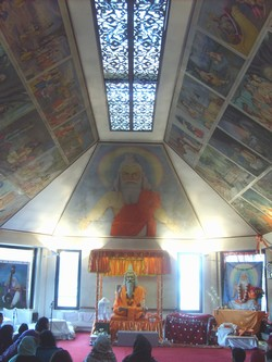 A Valmiki Temple in the UK. Caste segregation has meant that Mazhabi Sikhs and Hindu Churas have united to establish their own temples throughout Britain. Some Valmiki temples keep a copy of the Guru Granth Sahib[209] and Mazhabi Sikhs and Valmikis prayer together.