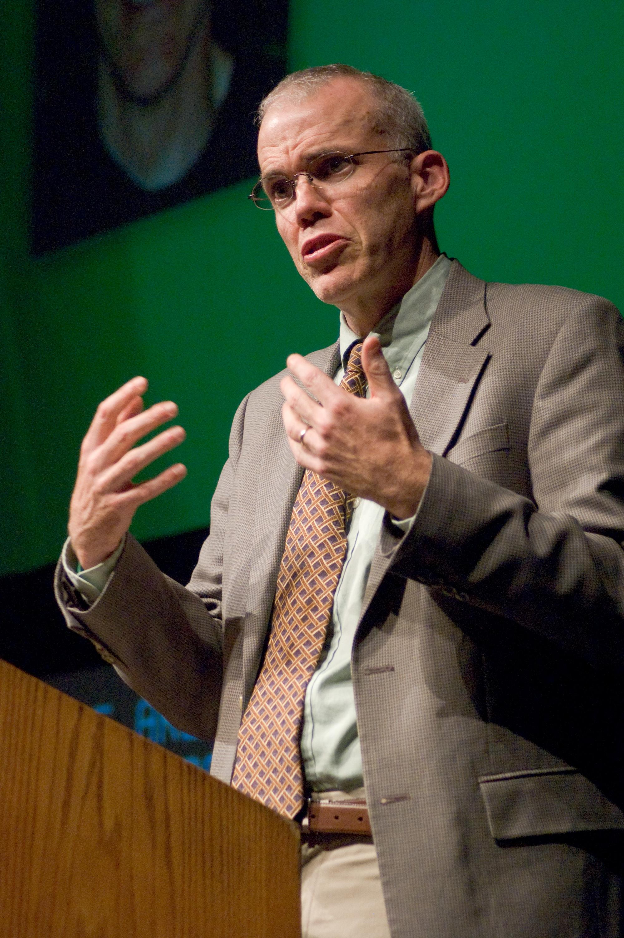 Bill McKibben speaking at [[Rochester Institute of Technology]], November 6, 2008
