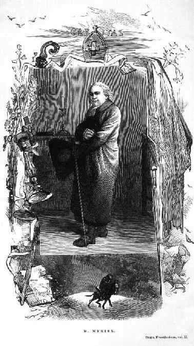 O Bispo Myriel - ilustração de Gustave Brion para a 1.ª edição de 'Os Miseráveis', 1862