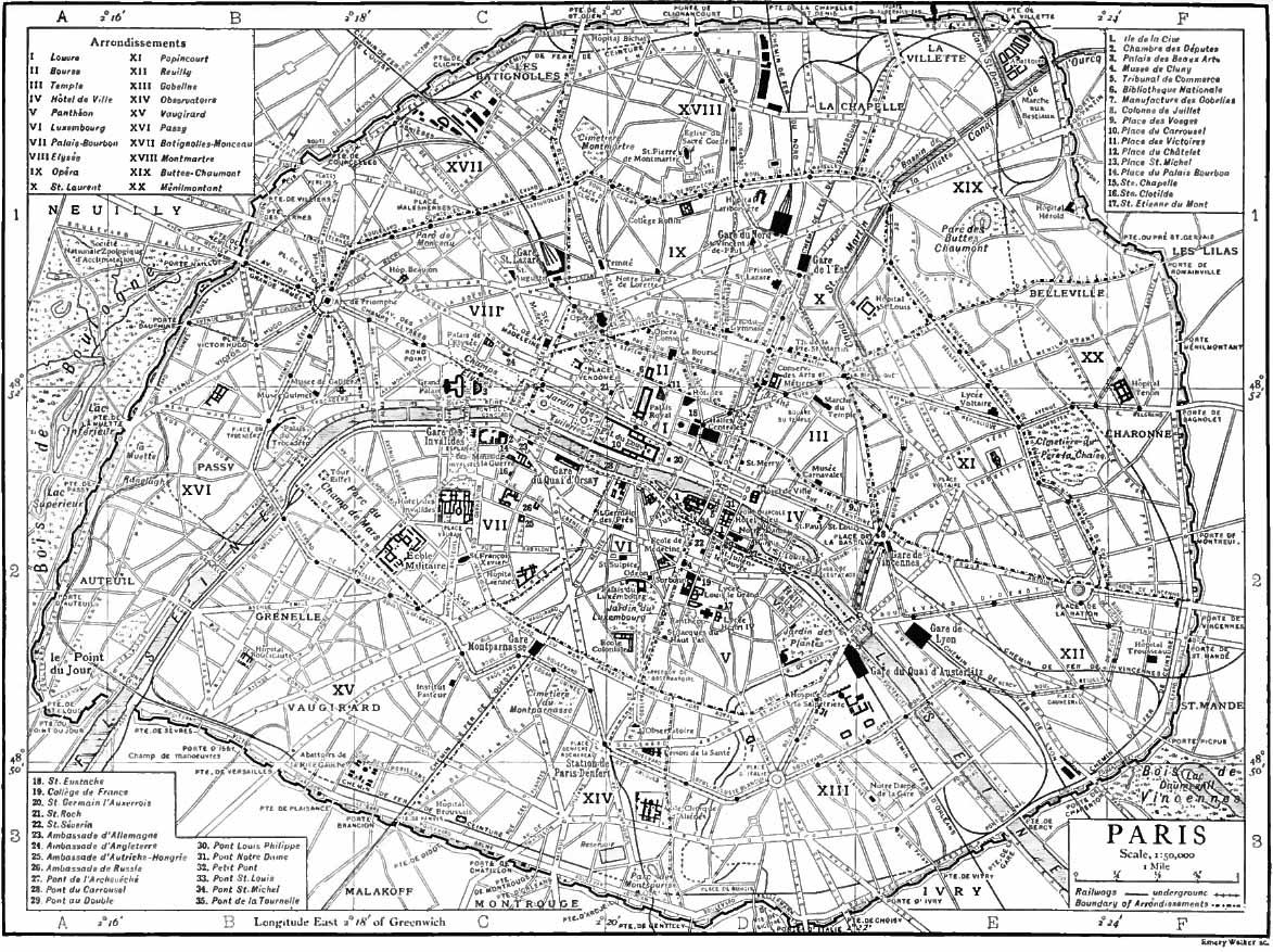 Paris Map Black And White.Paris Map Black And White