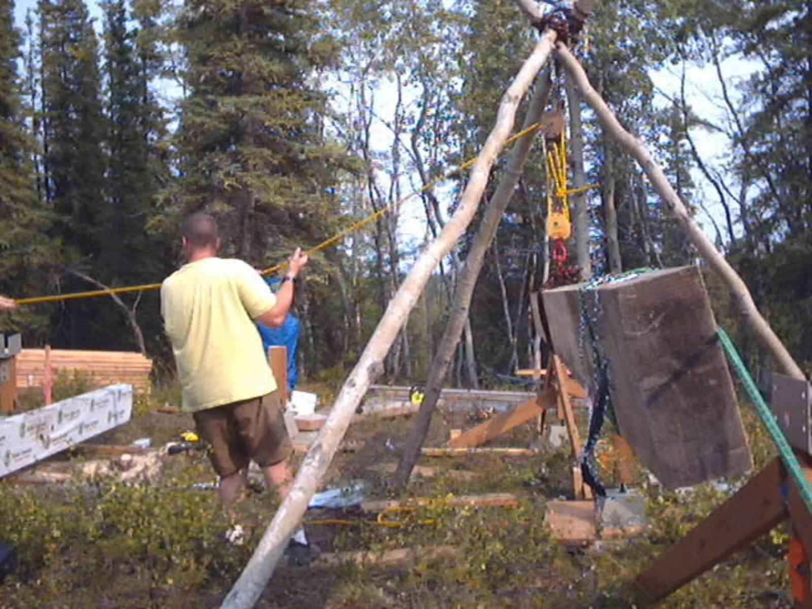 File Building A Cabin In Forest Jpg Wikimedia Commons