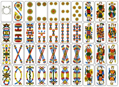 Carte Italie Jeux.Jeux De Cartes D Italie Annexe Cartes A Jouer Italiennes