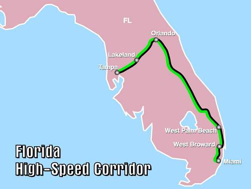 Florida Map Orlando.Florida High Speed Corridor Wikipedia