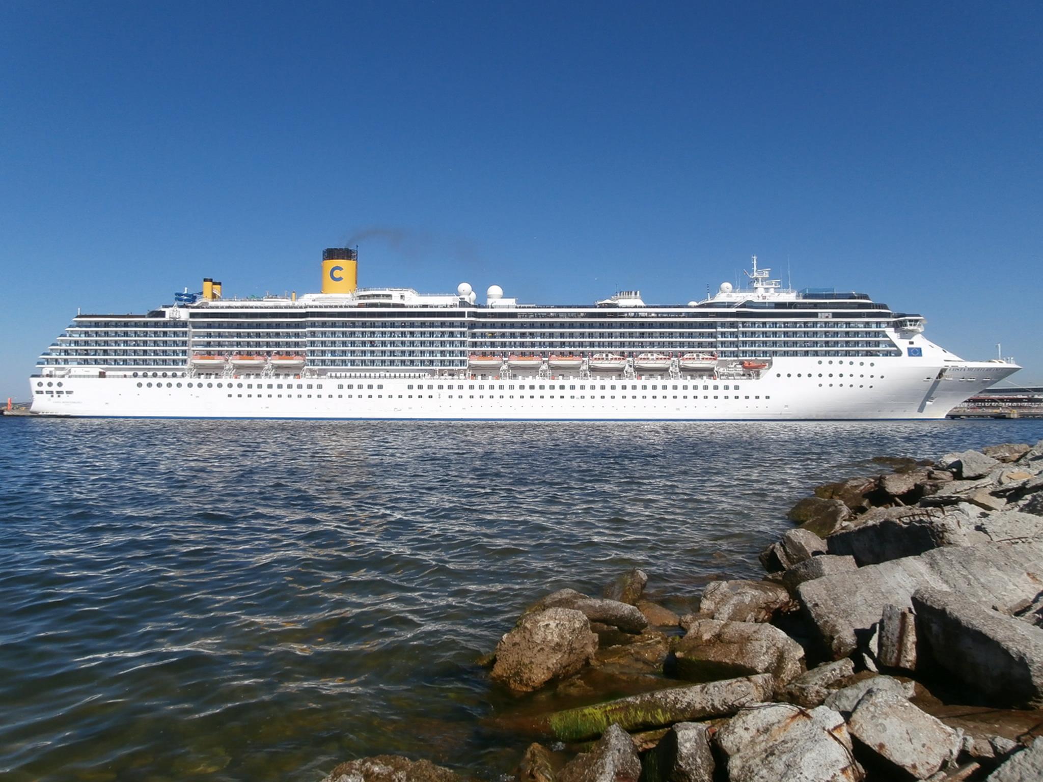 FileCosta Mediterranea Starboard Side Port Of Tallinn June - Port or starboard side of cruise ship