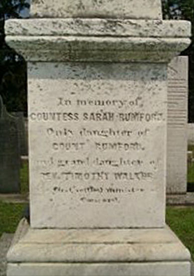 Countess Sarah Rumford Monument 2005