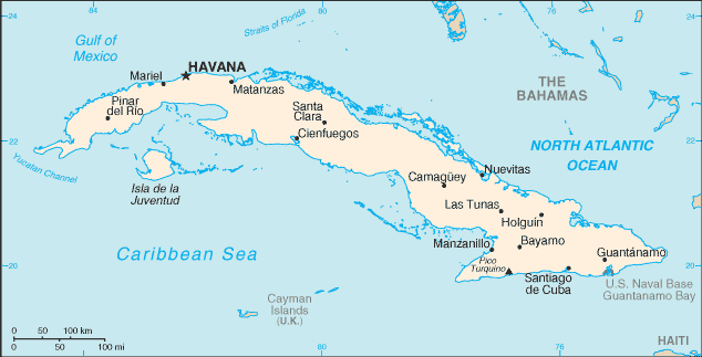 List of cities in Cuba - Wikipedia Capital Of Cuba Map on