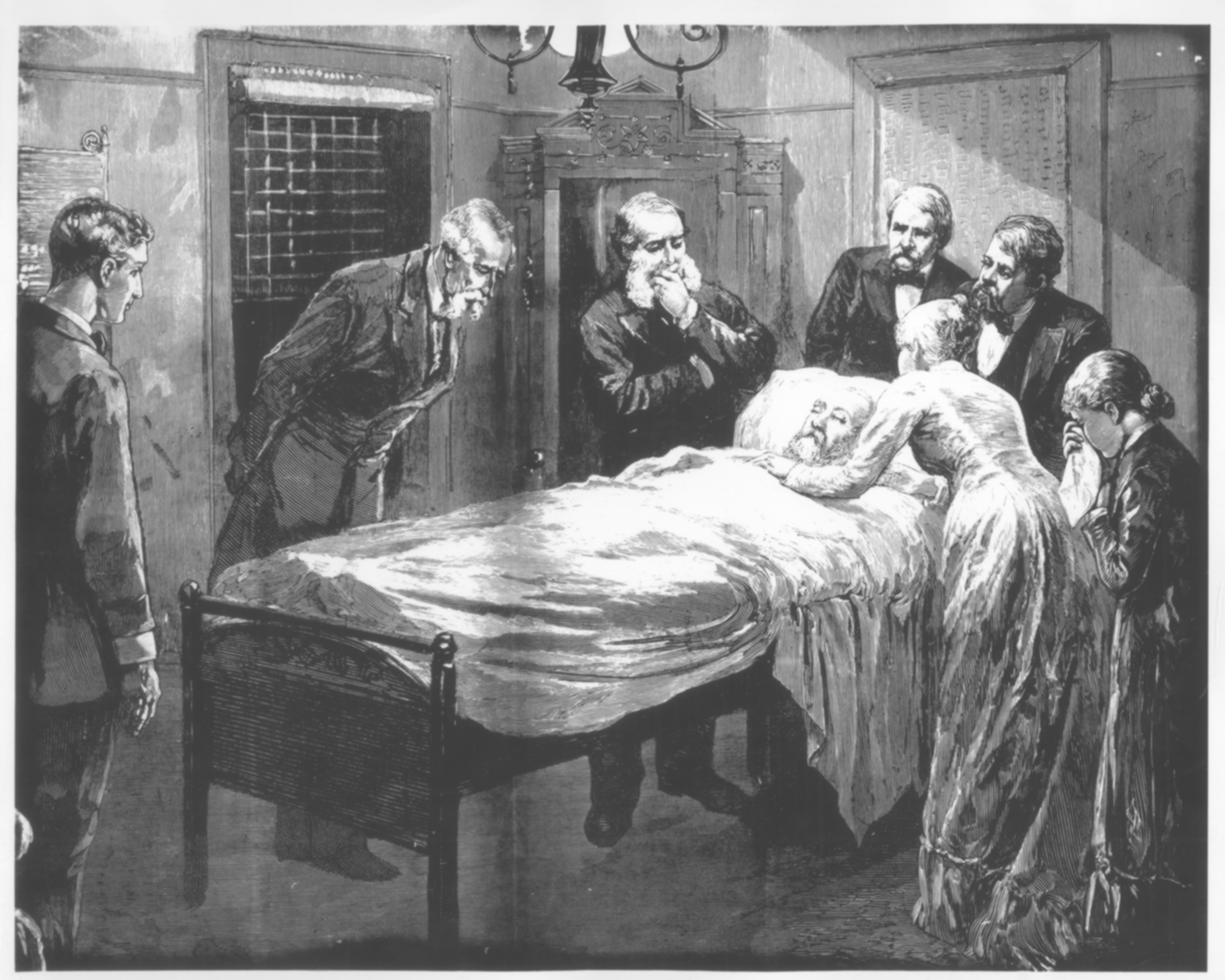 File Death Bed Of President James A Garfield From