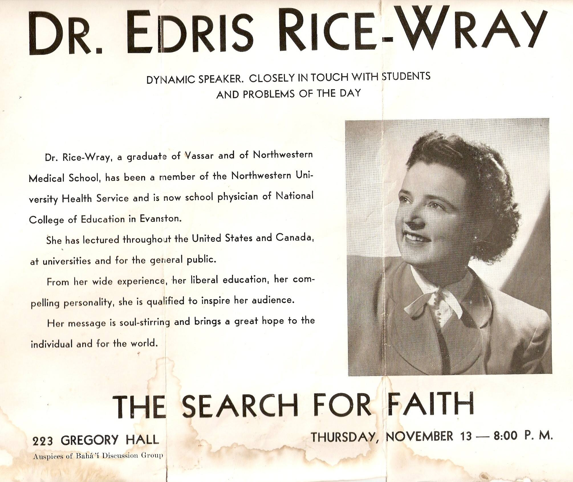 Diplima de Vassar y Nothweastern para la Dra. Edris Rice-Wray