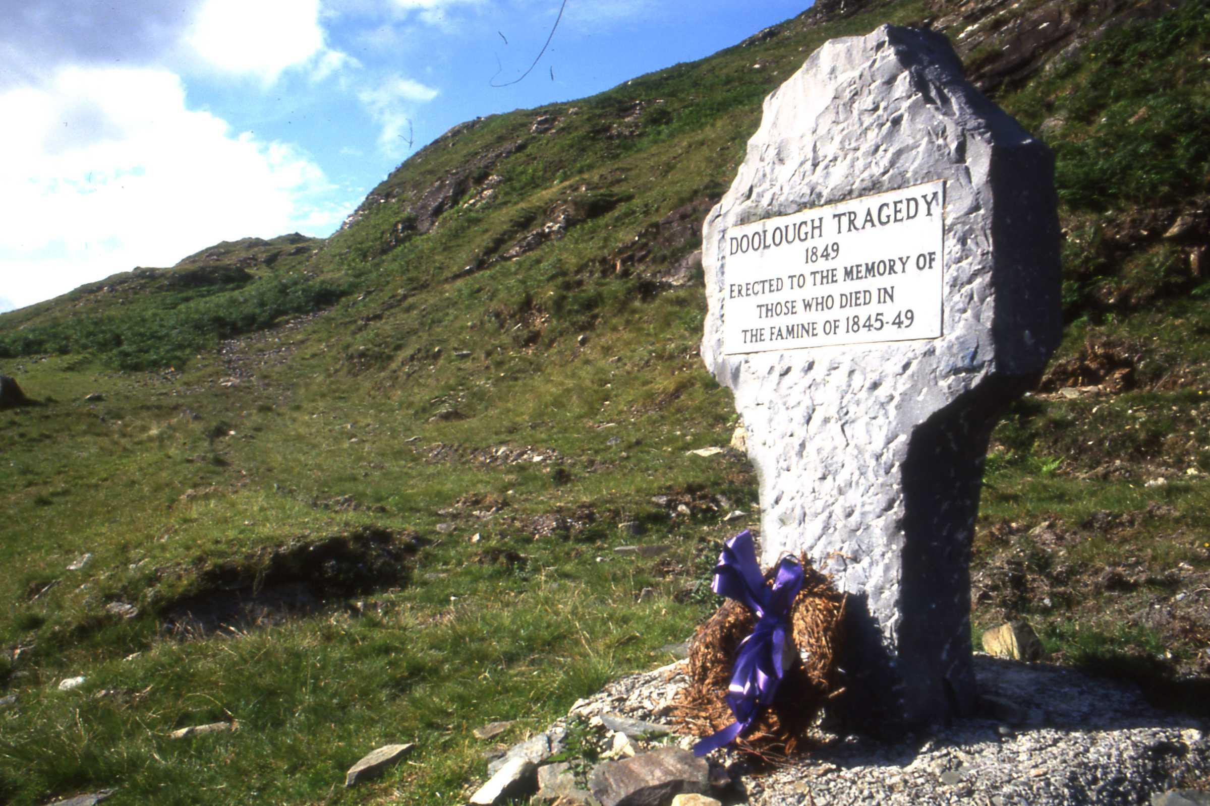 Irish potato famine memorial in Ireland