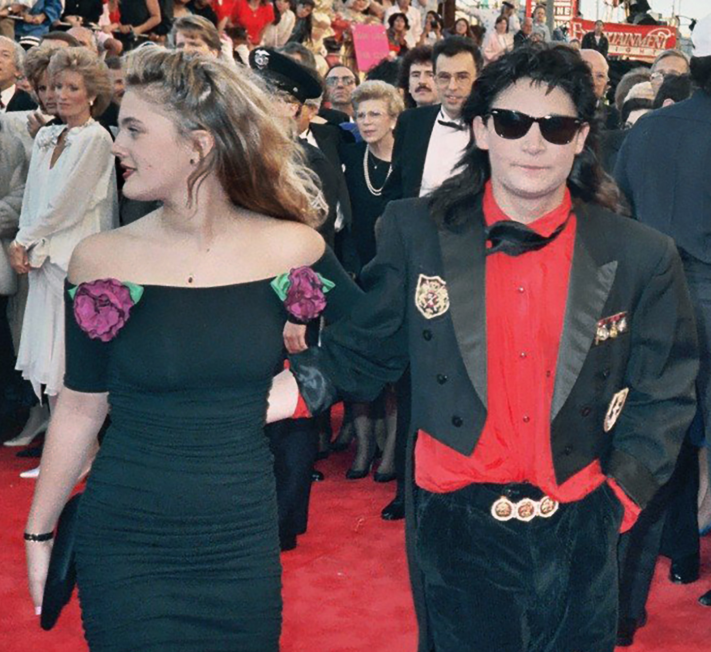 File Drew Barrymore Corey Feldman  cropped on oscar awards 2015 date