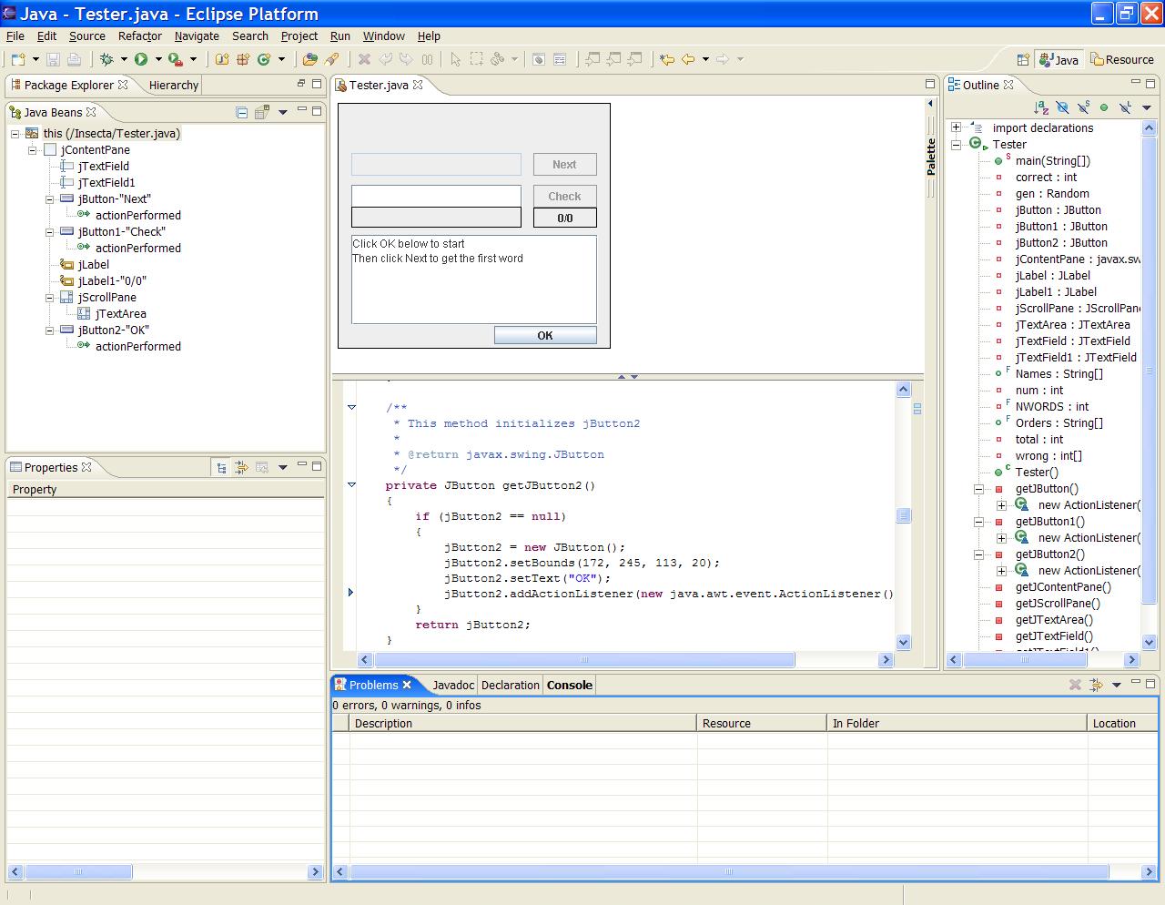 Как сделать интерфейс на java от и до
