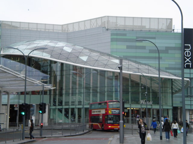 Entrance to Westfield Shopping Centre W12 - geograph.org.uk - 1761843.jpg