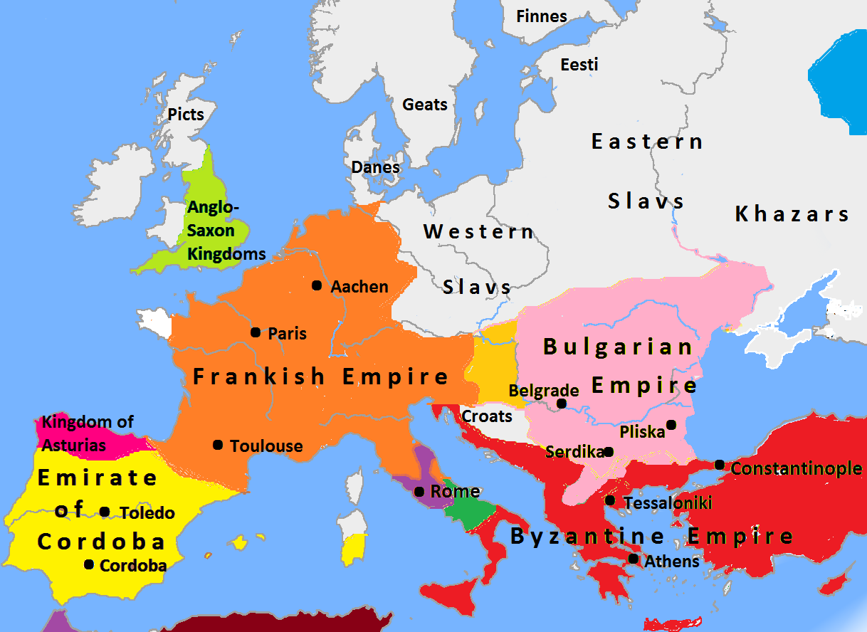 File Europe In 814 Map Png Wikimedia Commons