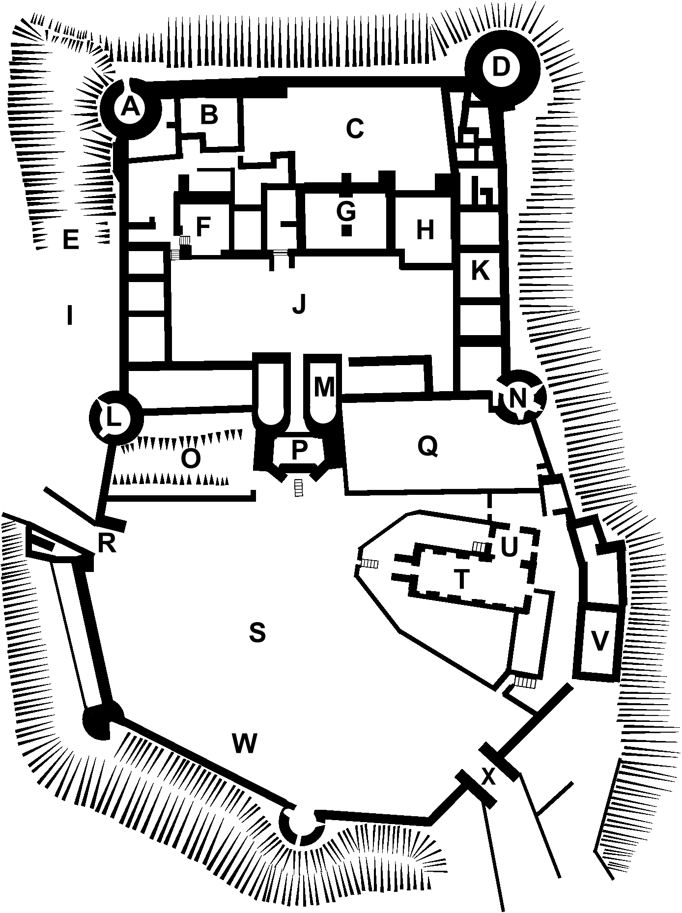 file farleigh hungerford castle plan png wikimedia commons