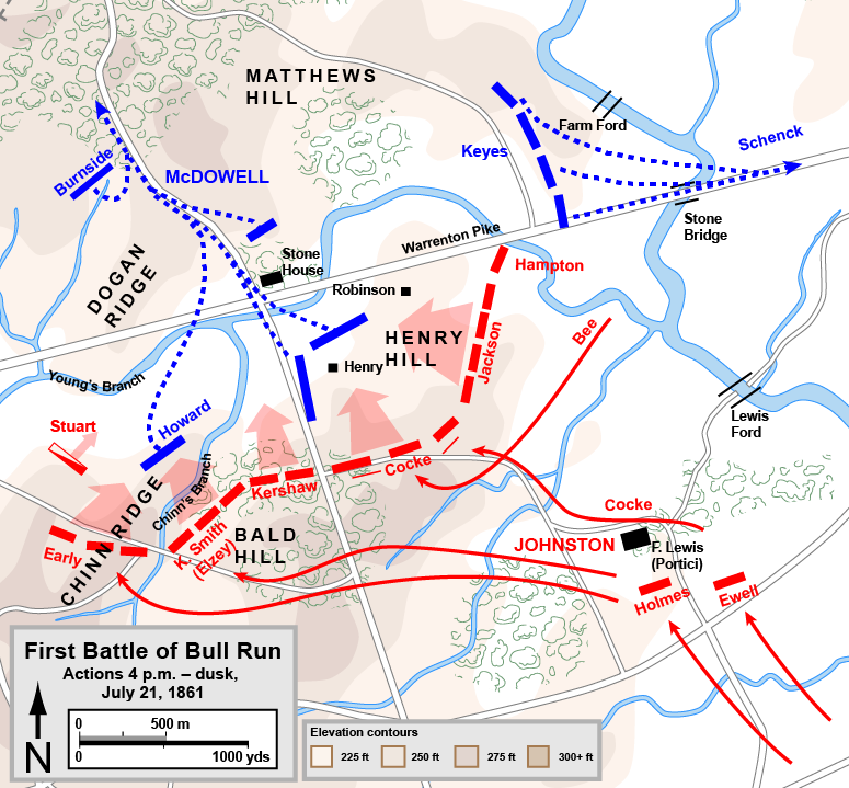 First bull run battle map