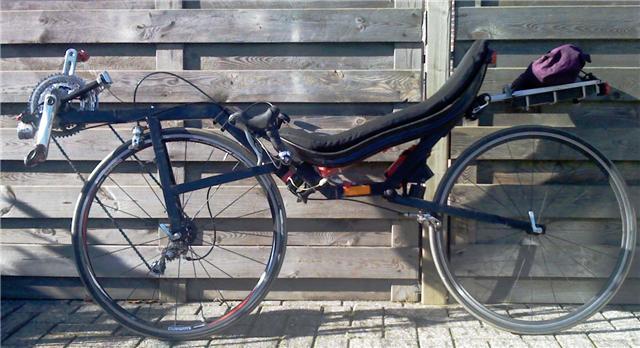 自転車の 自転車 前輪駆動 : Center Steering Recumbent Bicycles