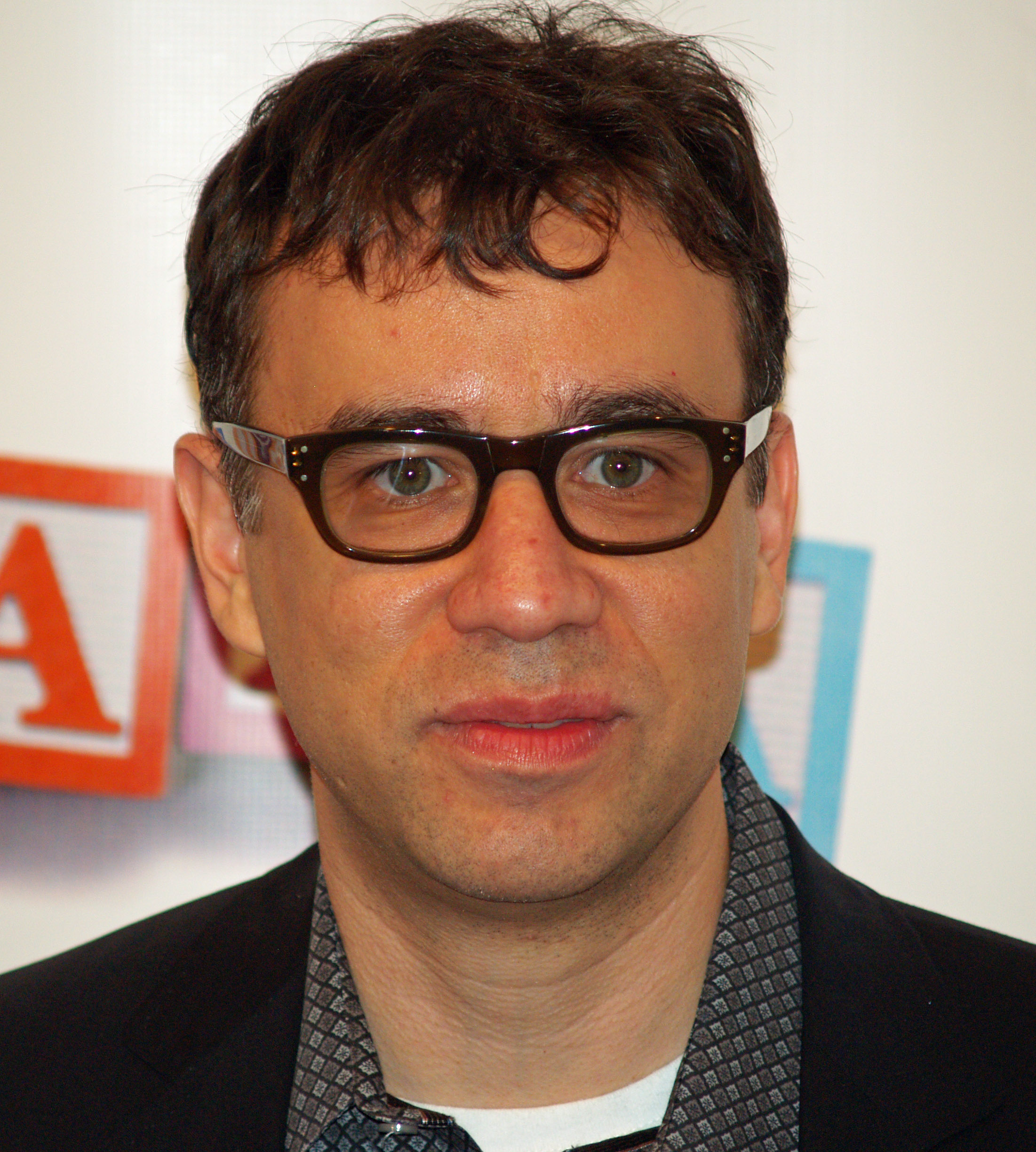 Fred Armisen - 2017 Dark Brown hair & alternative hair style. Current length:  near-shaved Hair