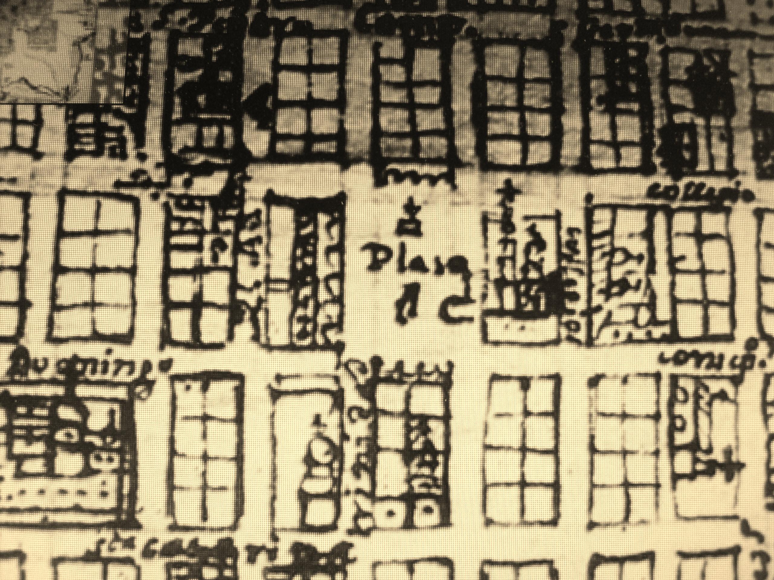 Mapa donde aparece el Zócalo de Puebla
