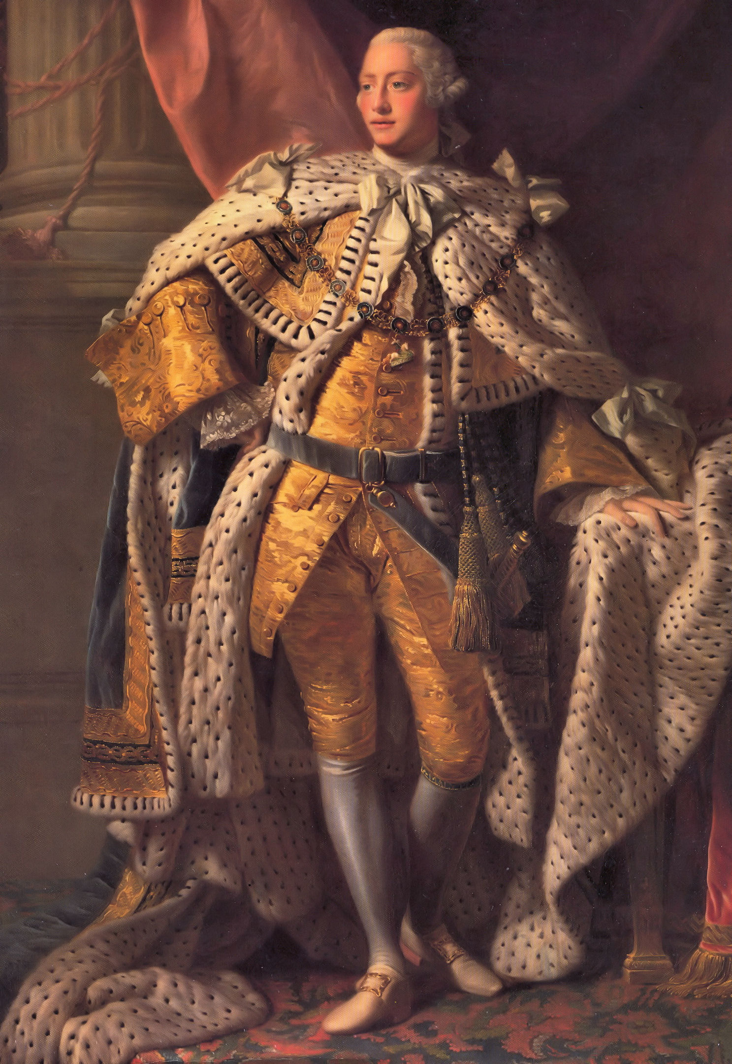 Allan Ramsay: King George III (in coronation robes), 1761-62
