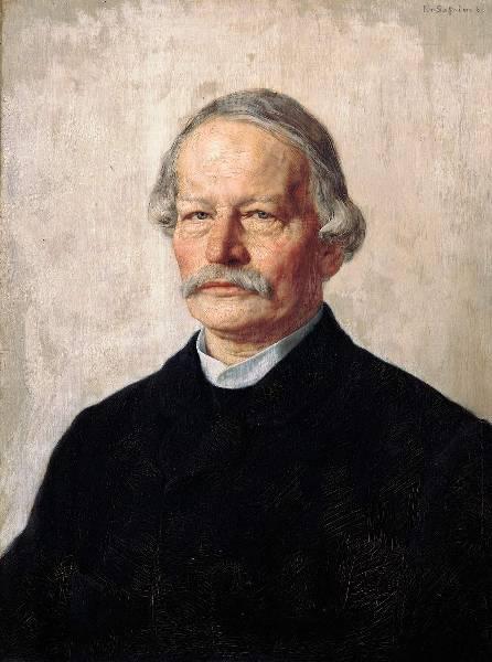 Gustav Freytag by Karl Stauffer-Bern 1886-1887