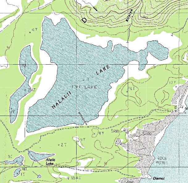 Topographic Map Of Maui.Halalii Lake Wikipedia