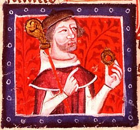 Contemporary depiction of Stephen's brother Henry of Blois, with his bishop's staff and ring HenryBlois.jpg