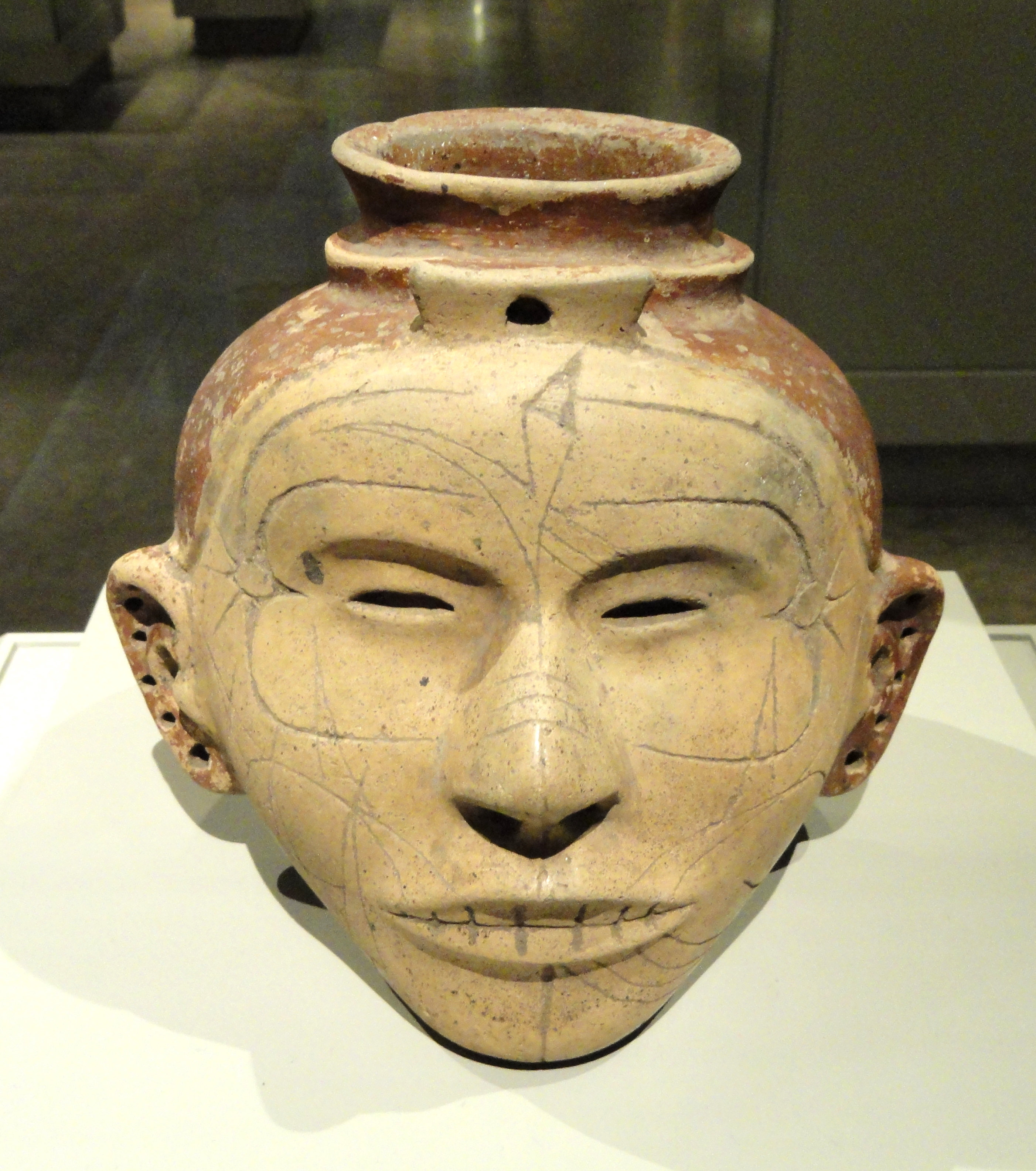 File Human Head Effigy Jar Late Mississippian Culture