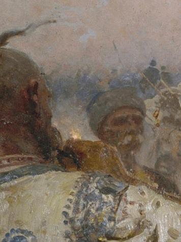 File:Ilja Jefimowitsch Repin - Zaporozhian Cossacks (image detail) 6.jpg