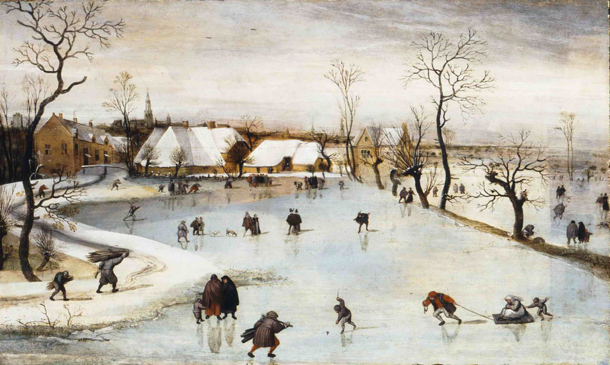 Image result for Famous paintings and artwork of skaters on a frozen river