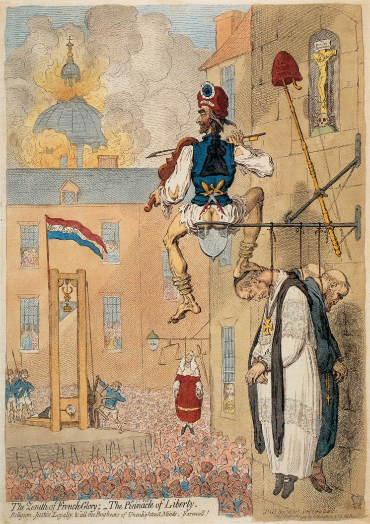 Karikatur von James Gillray zur französischen Revolution