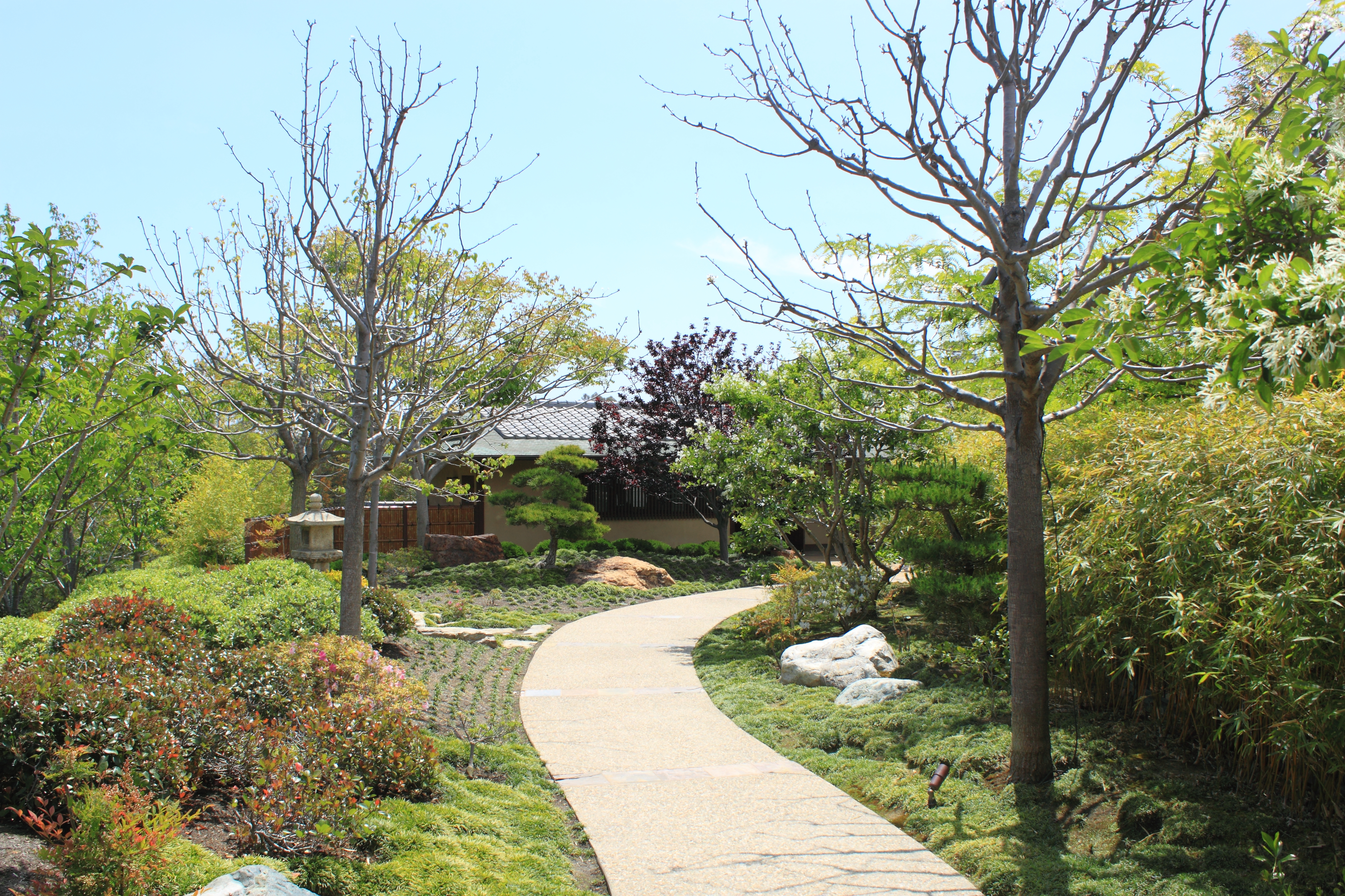 File japanese friendship garden path from entrance jpg for Japanese garden path