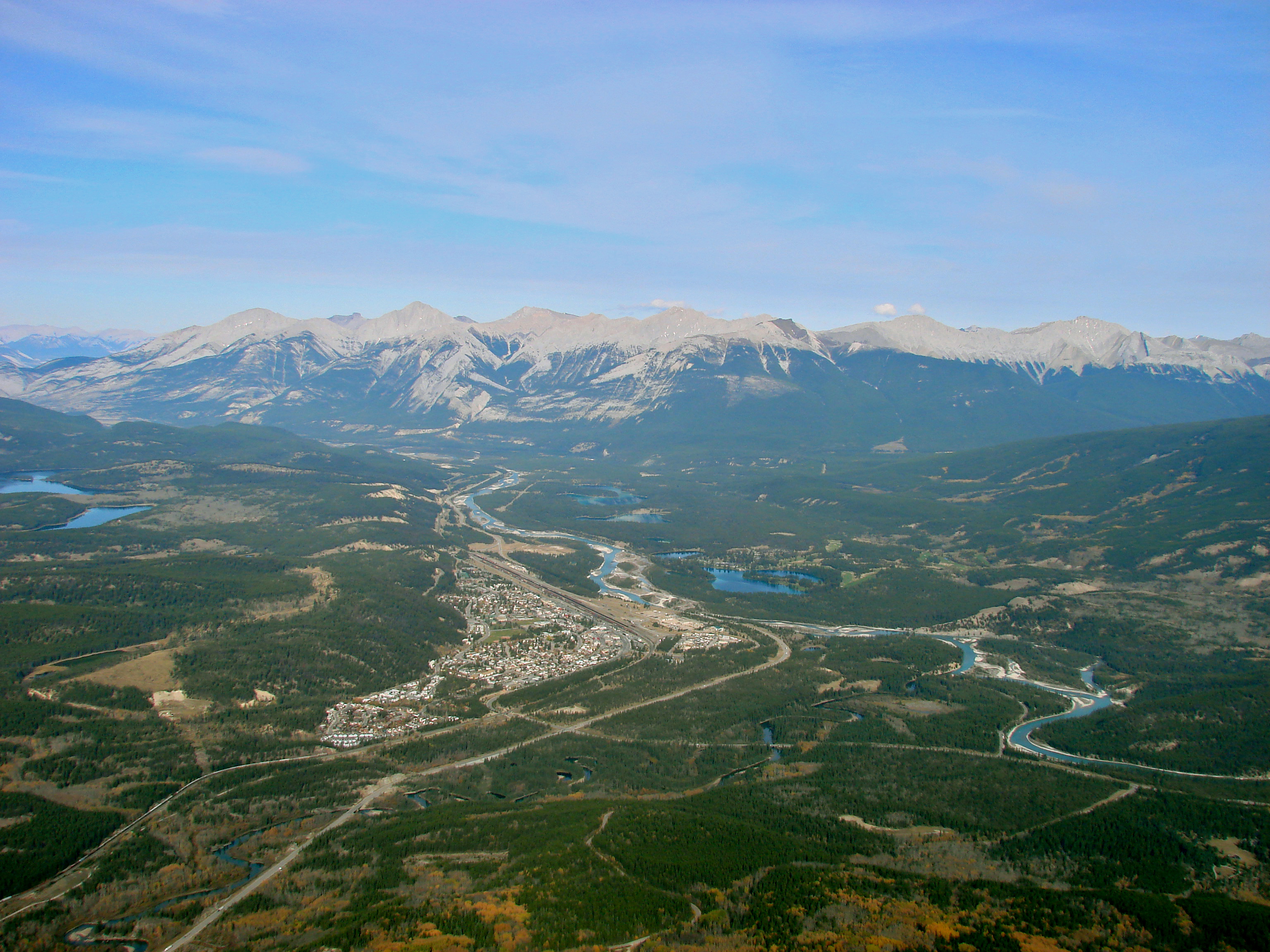 Bonnyville (AB) Canada  city photo : Description Jasper, Alberta, Canada, ViewFromSummit RyanShepherd