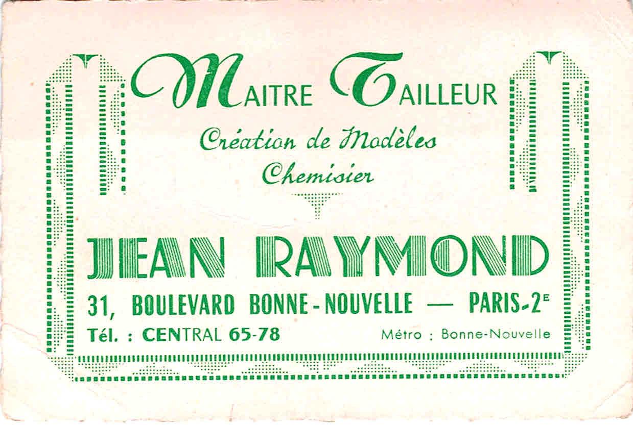 FileJean Raymond Carte De Visite Vintage Annes 50 Et 60