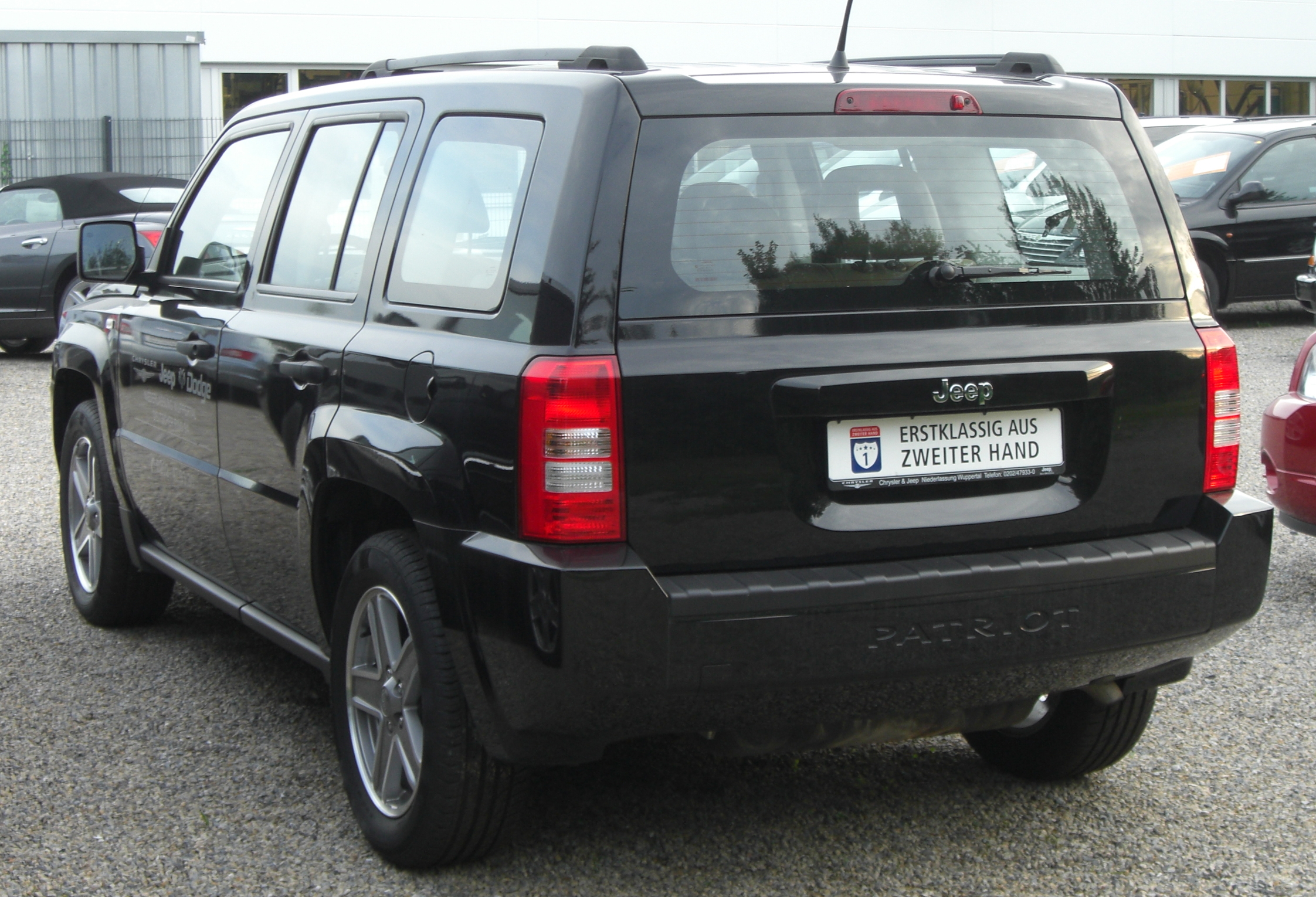 2015 Jeep Grand Cherokee >> File:Jeep Patriot 2.0 CRD rear.jpg - Wikimedia Commons