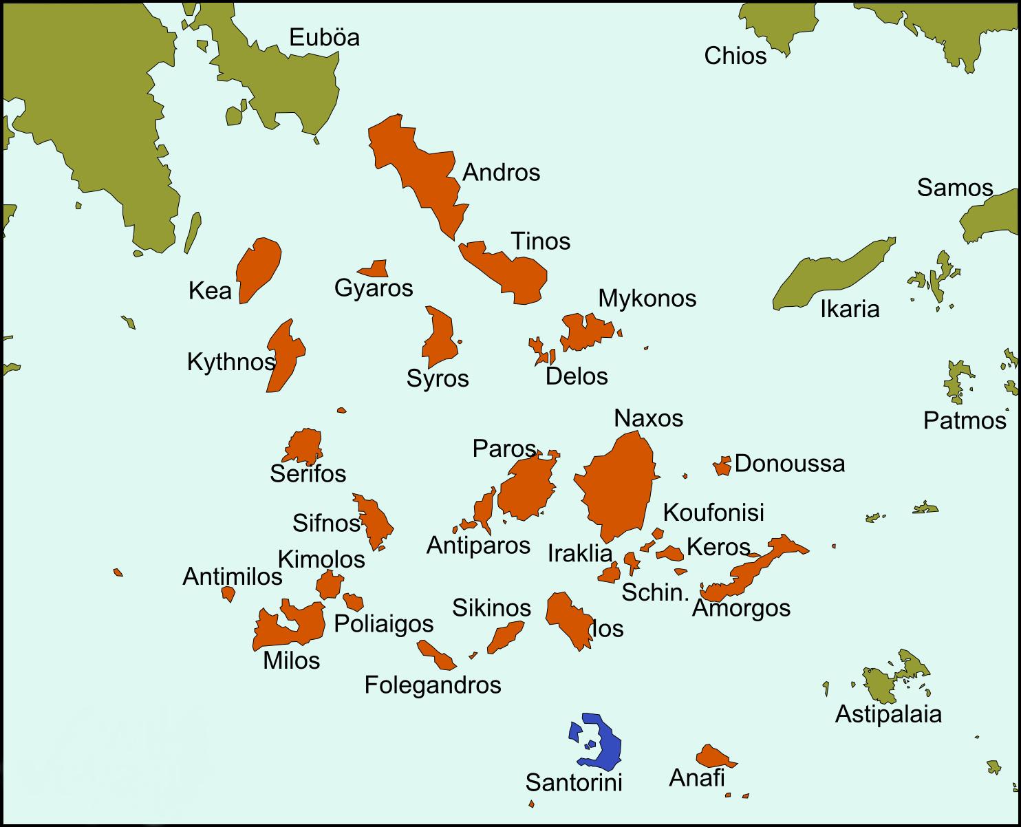 santorini karte griechenland Santorini – Reiseführer auf Wikivoyage