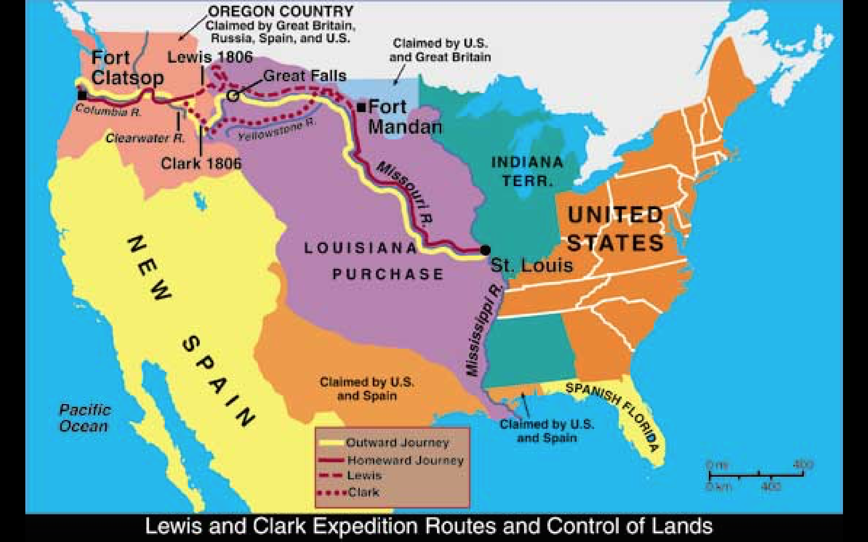 Unusual image throughout lewis and clark printable map