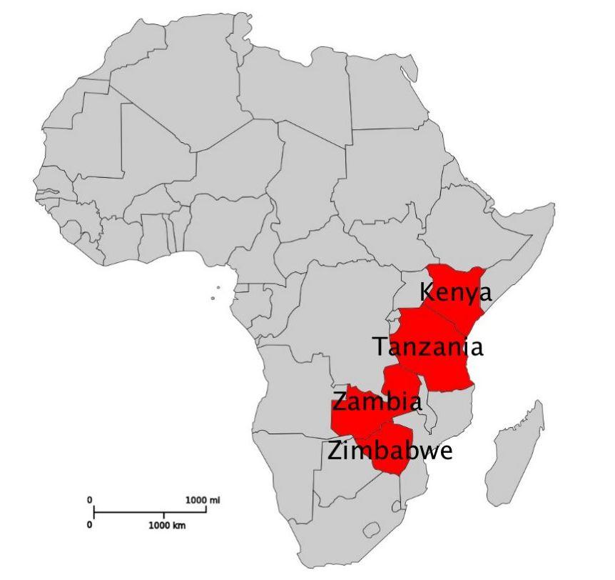 Map Of Africa Zimbabwe.File Map Of Africa Kenya Tanzania Zambia Zimbabwe Jpg