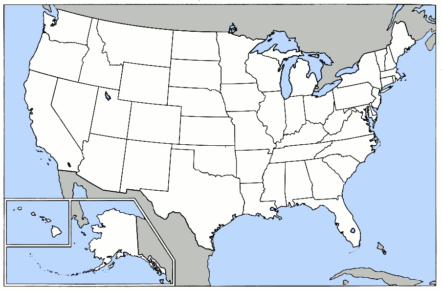 United States Map Blank Outline