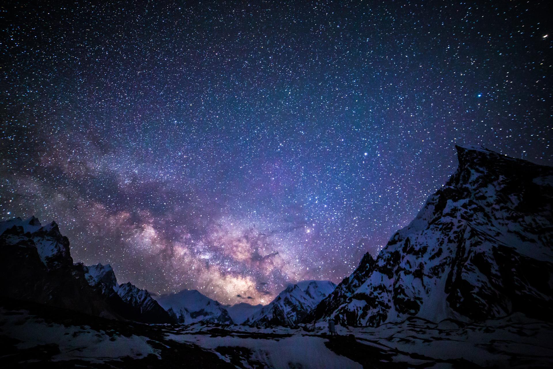 Лес звездное небо