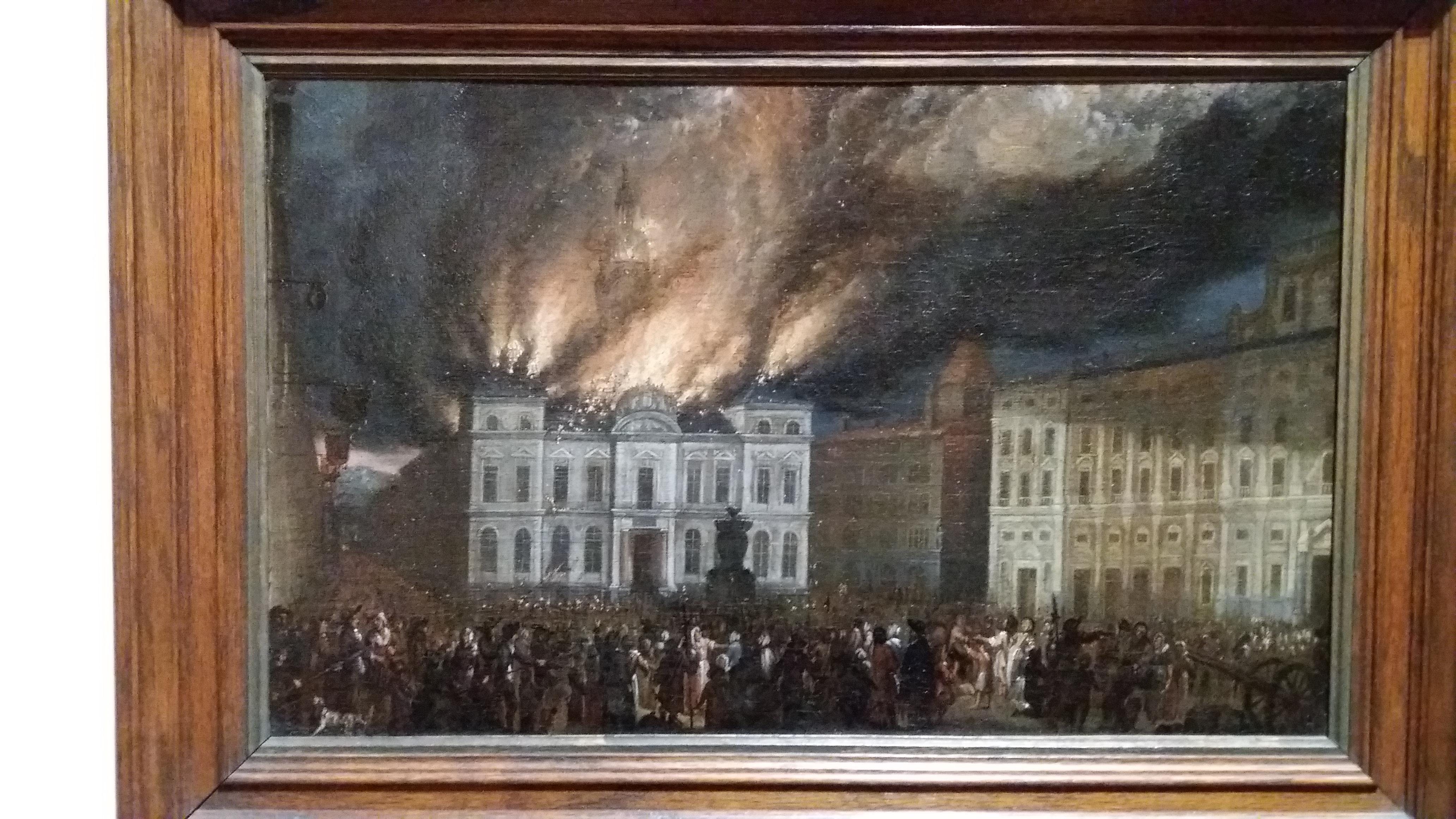 Fichiermusées Gadagne Incendie De Lhôtel De Ville De