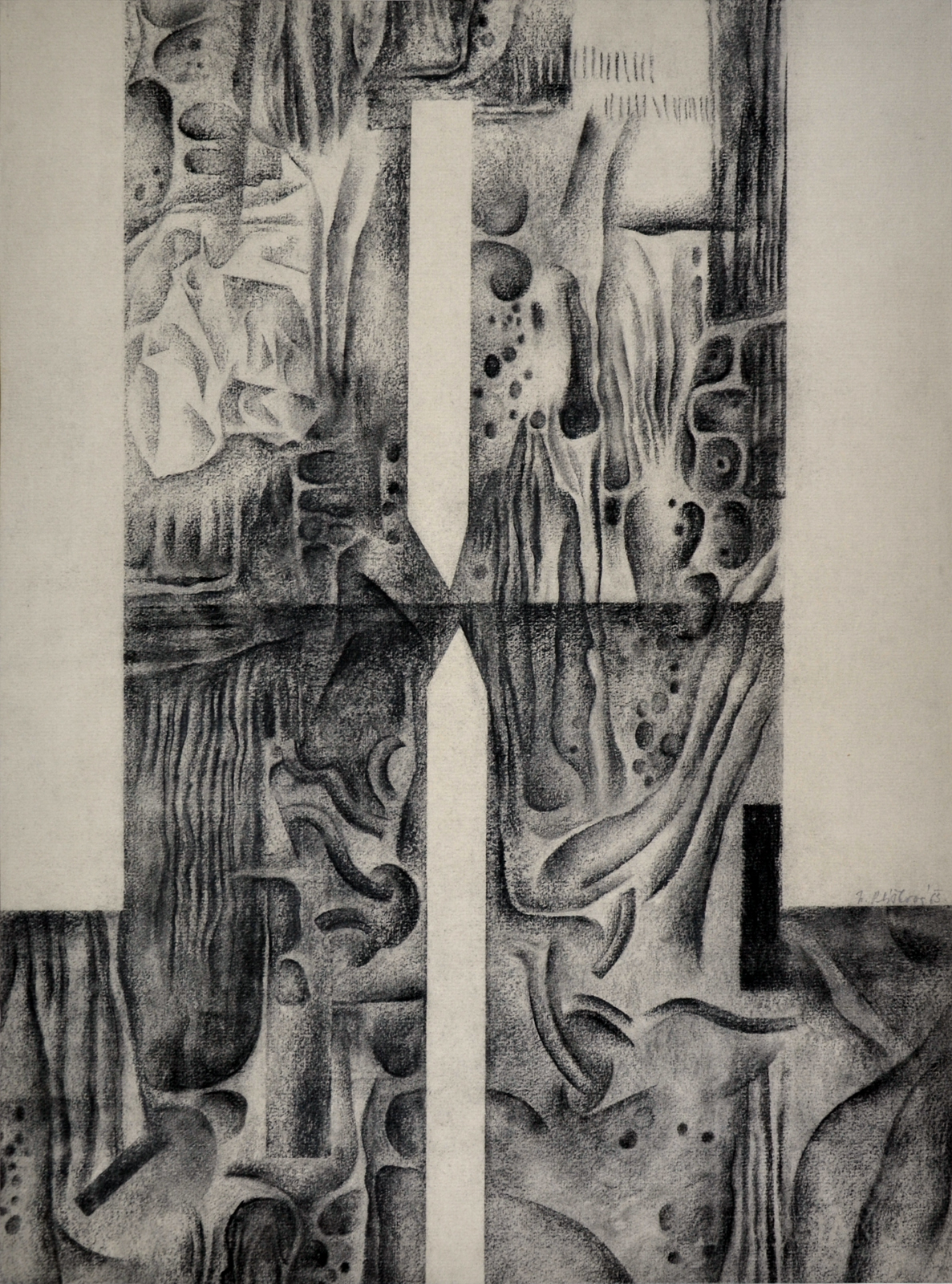 Soubor Nadezda Pliskova Dvojice Kresba Uhlem 47x35 Cm 1963 Jpg