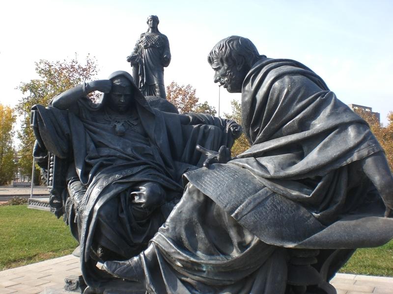 Nero and Seneca, by Eduardo Barrón, Cordoba, Spain.