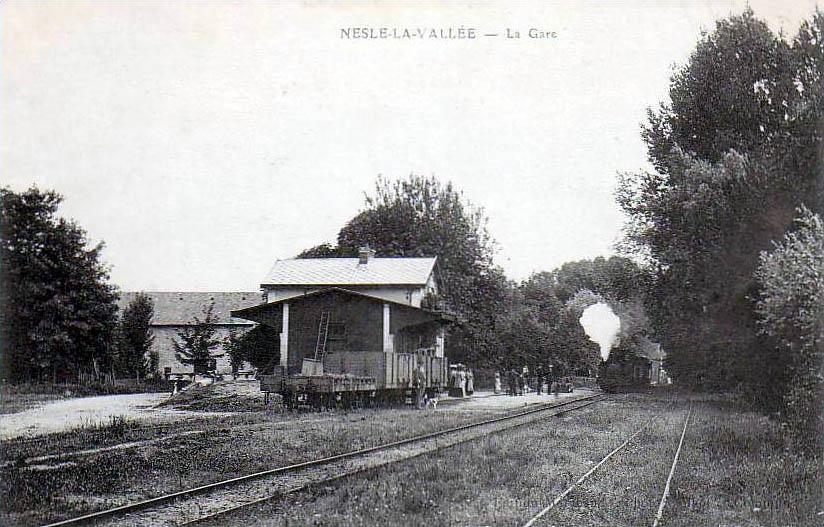 Gare de Nesles la Vallée, vers 1900