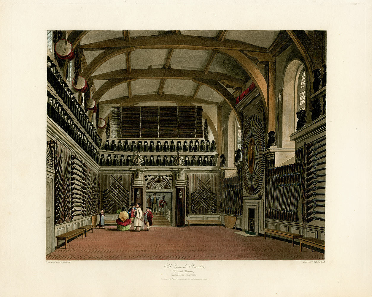 File:Old Guard Chamber, Round Tower, Windsor Castle, from ...