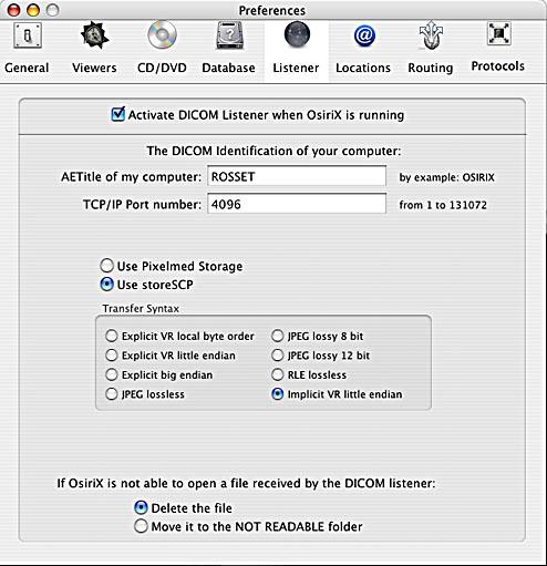 Online OsiriX Documentation/Importing DICOM images into